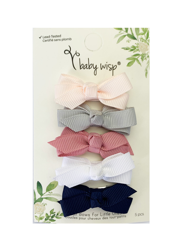 Baby Wisp Chelsea Bows Snap Clip Hype 5pk