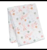 Lulujo Kitty Muslin Swaddle Blanket
