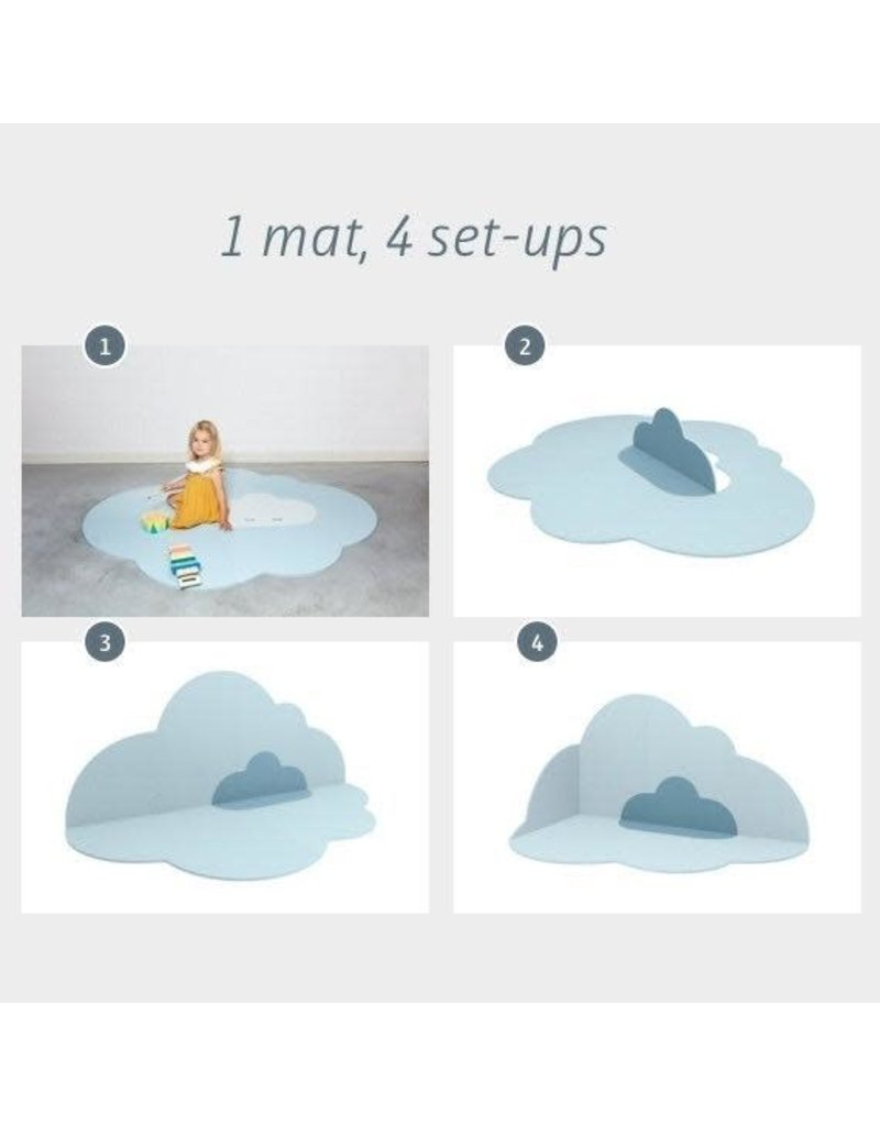 Head in the Clouds Playmat (Lg) - Dusty Blue