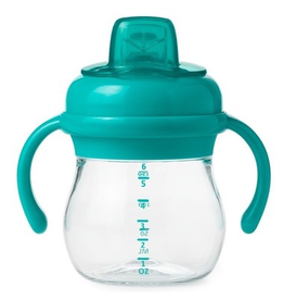 OXO Tot Transitions Soft Sippy Spout Cup with Handles, Teal