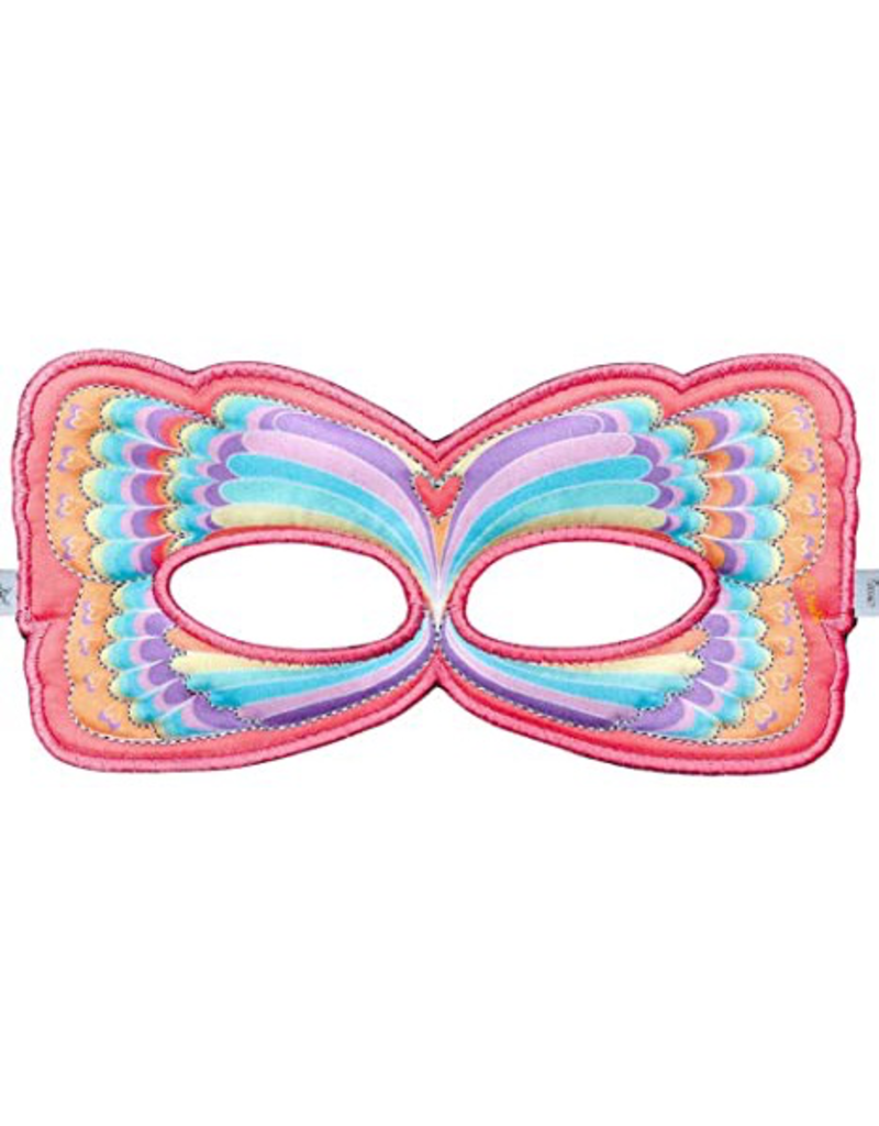 Butterfly Mask, Pink Rainbow