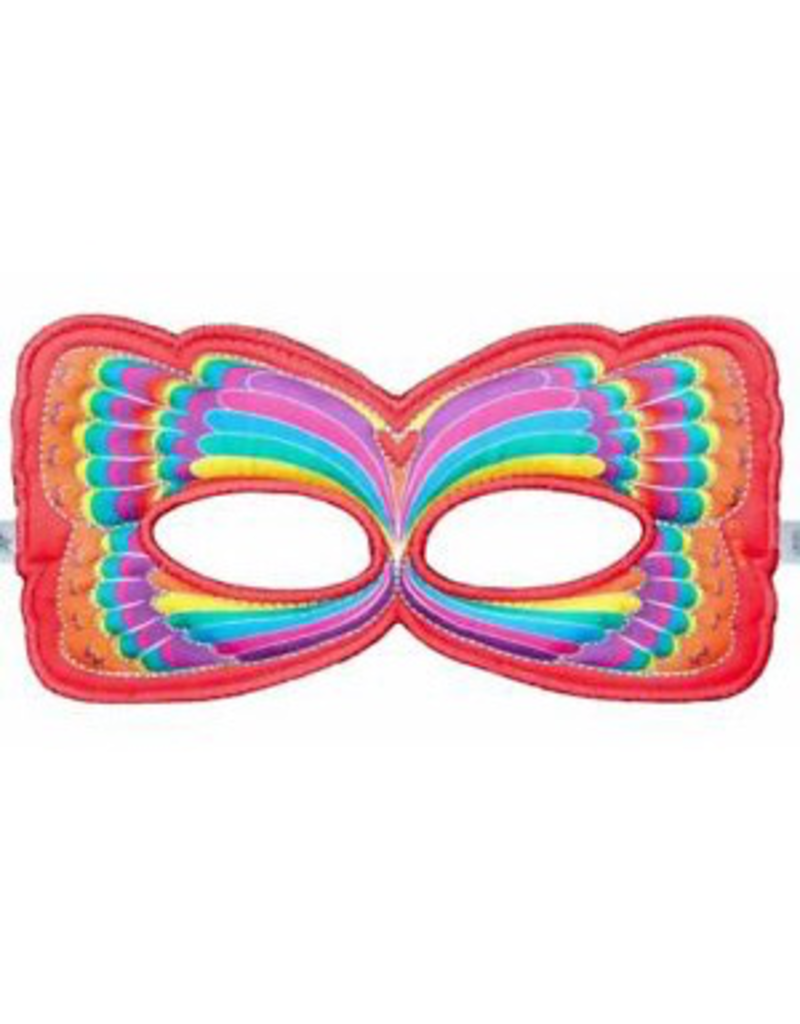 Butterfly Mask, Red Rainbow