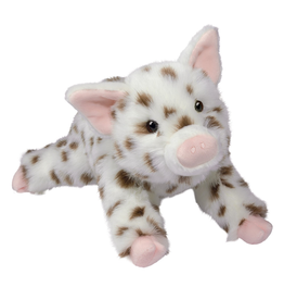 Douglas Toys Dlux Brown Spotted Pig