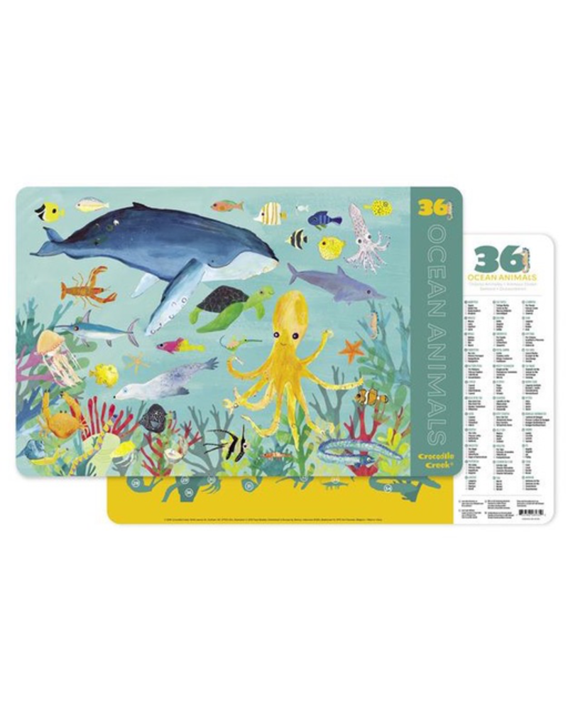 Crocodile Creek Placemat - 36 Ocean Animals