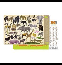 Crocodile Creek Placemat - 36 Wild Animals