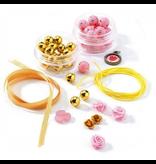 Djeco Pearls & Flowers Jewelry Making Set