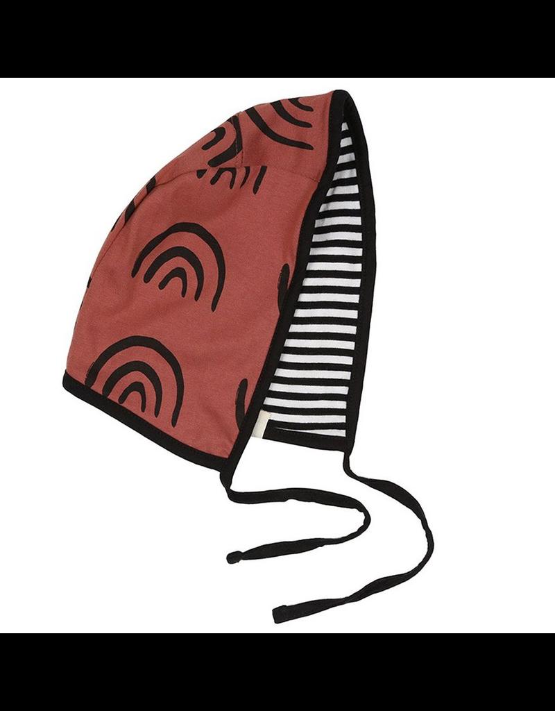 Turtledove London Rainbow/Striped Reversible Bonnet, OS