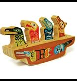 Native Northwest Animal Journey Canoe