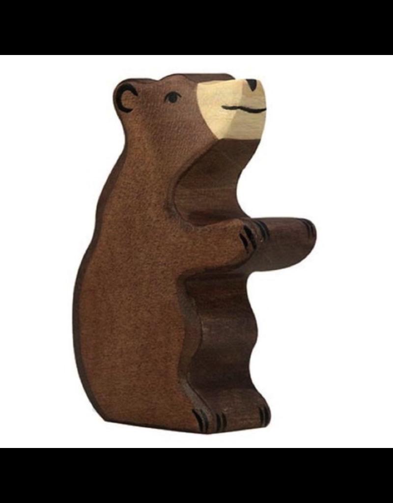Holztiger Holztiger Brown Bear, small, sitting