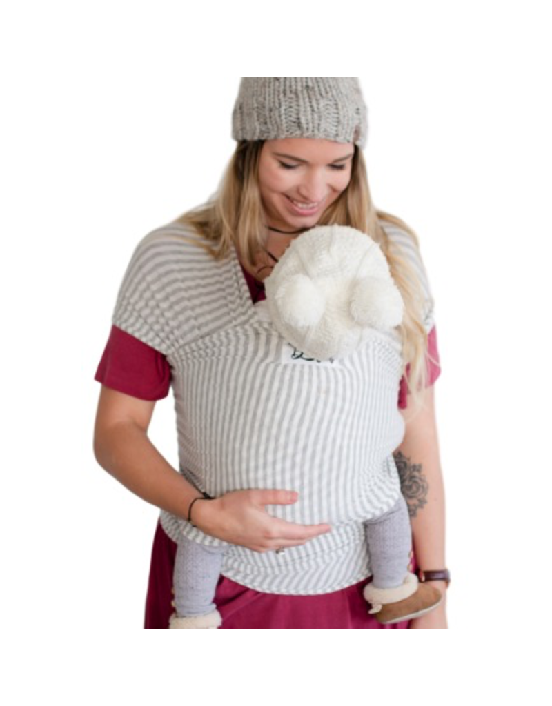 Beluga Baby Beluga Baby Bamboo Wrap - The Shannon (Grey Stripe)