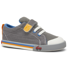 See Kai Run Youth Stevie II Sneakers Grey w/Orange