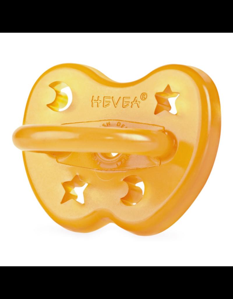 Hevea Natural Rubber Pacifier 0-3m - Star & Moon