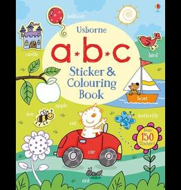 Usborne Abc Sticker & Colouring Book