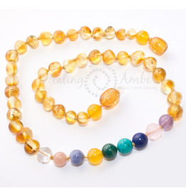 Medium Healing Amber & Gemstone Necklace
