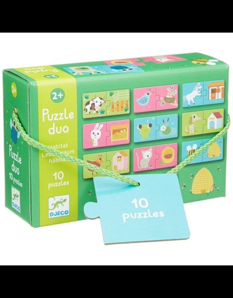Djeco Puzzle Duo - Habitat