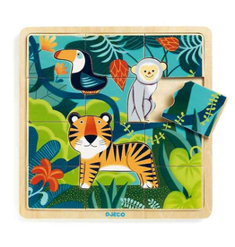 Djeco Wooden Puzzle - Jungle 16pc