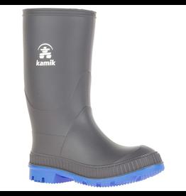 Kamik Charcoal/Blue Stomp Youth Rain Boots