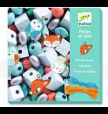 Djeco DIY Wooden Beads - Small Animals