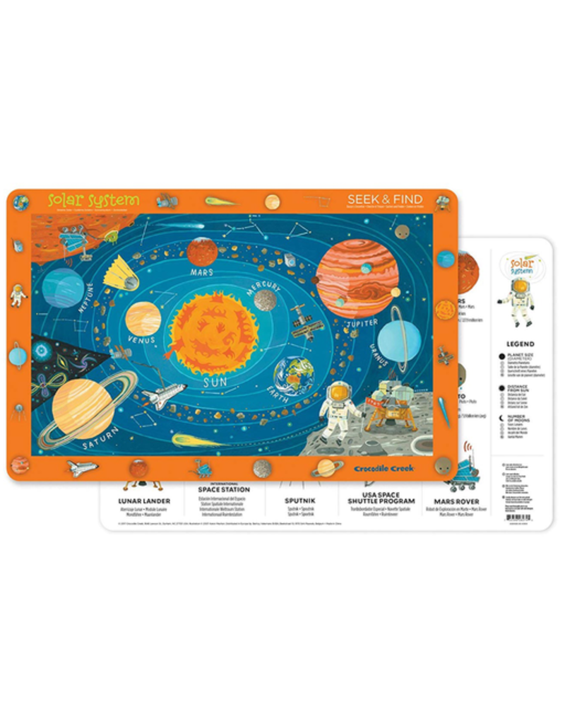 Crocodile Creek Placemat - Solar System