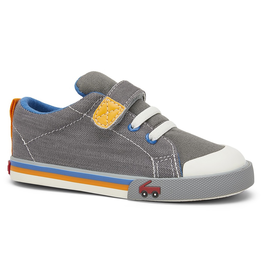 See Kai Run Stevie II Sneakers Grey w/Orange
