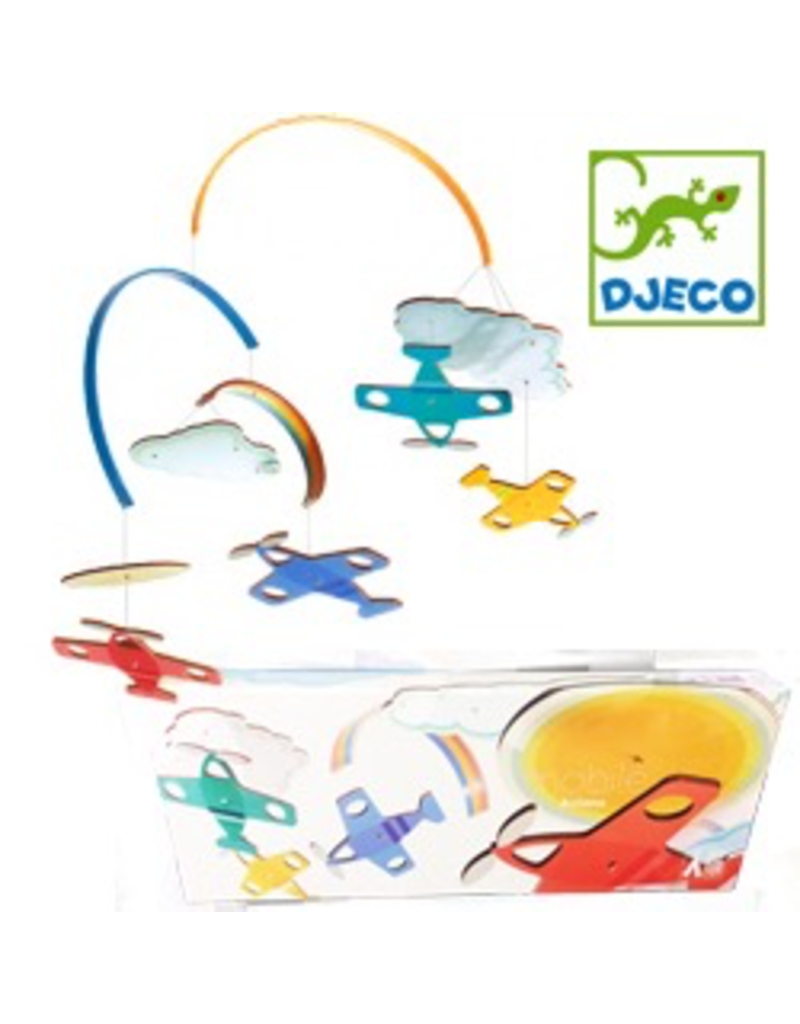 Djeco Illustrated Wooden Mobiles - Planes