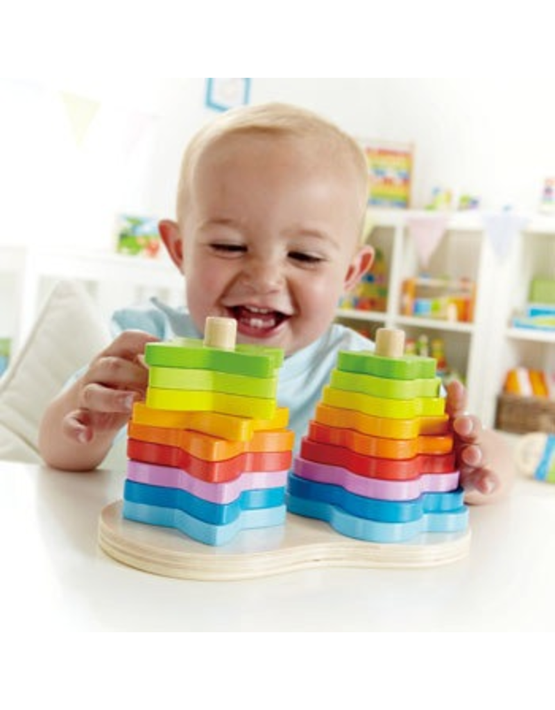 Hape Toys Double Rainbow Stacker