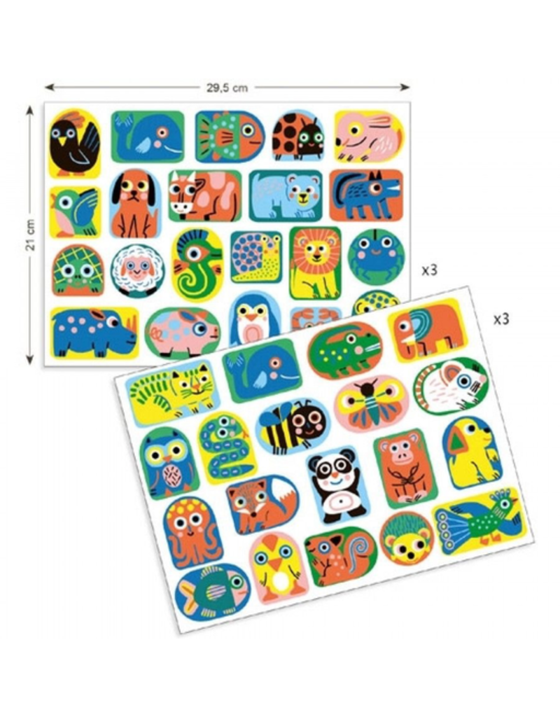 Djeco Stickers - All Shapes & Sizes 18m+