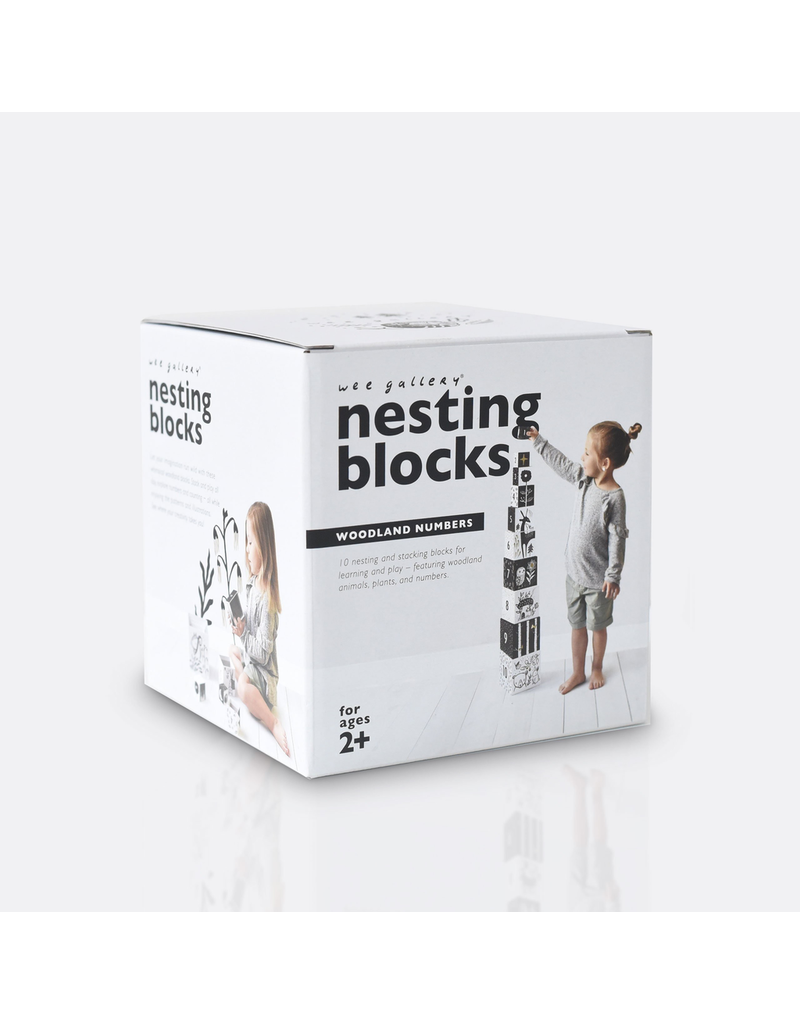 Wee Gallery Nesting Blocks - Woodland Numbers