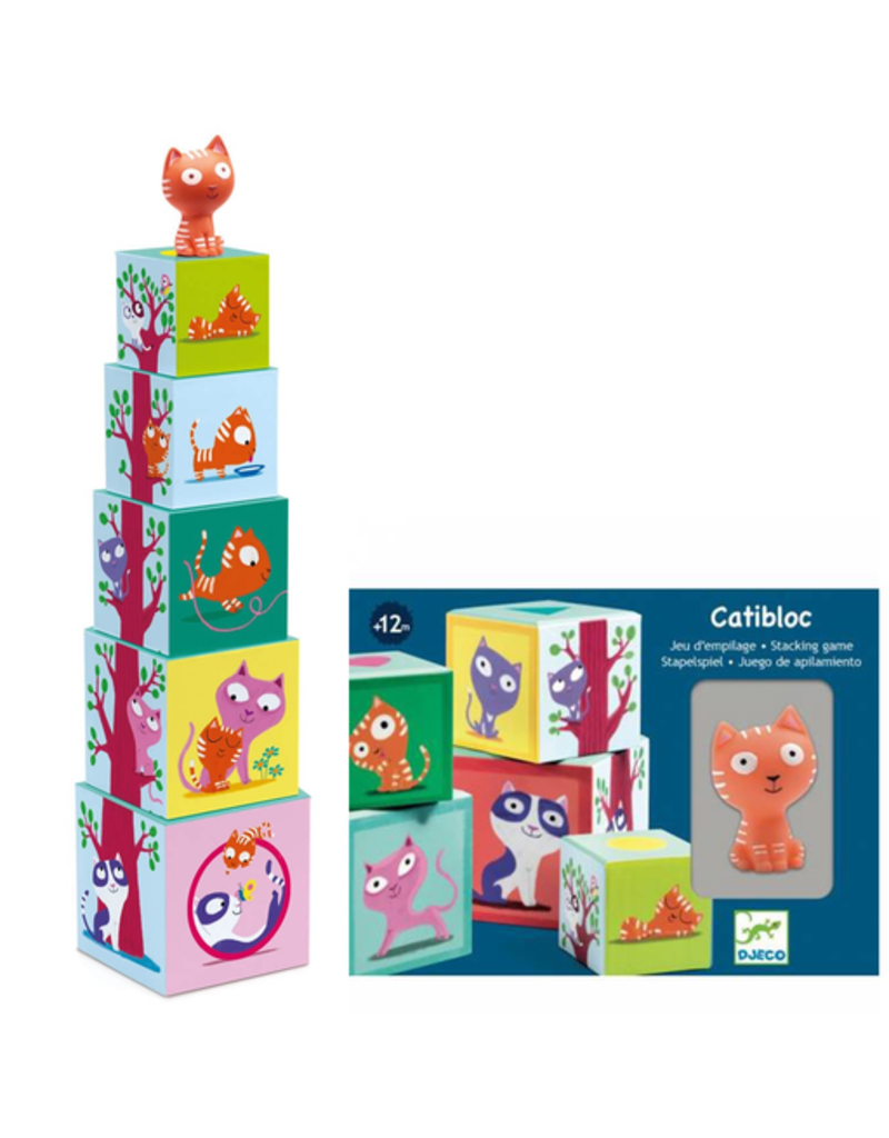Djeco Catibloc Stacking Cubes + Cats