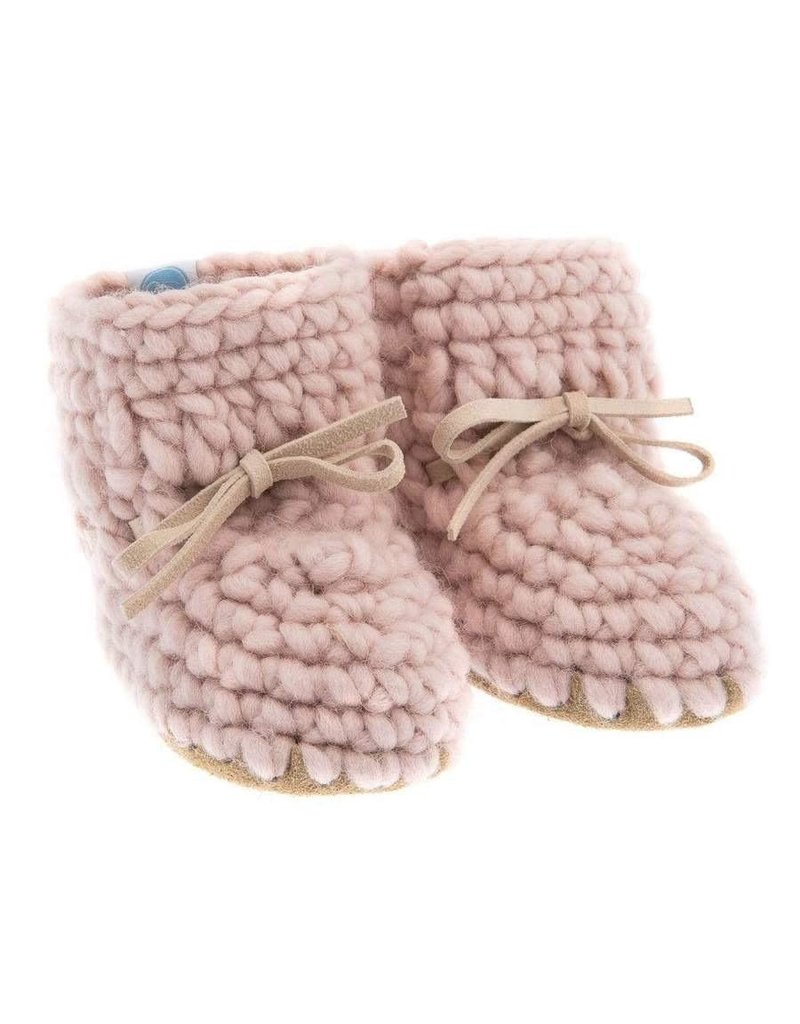 Beba Bean Pink Sweater Moccs