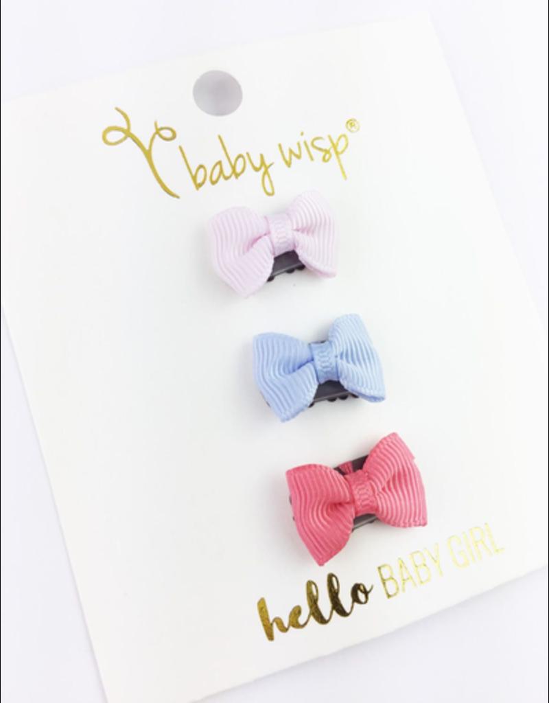 Baby Wisp Mini Latch Bow 3pk