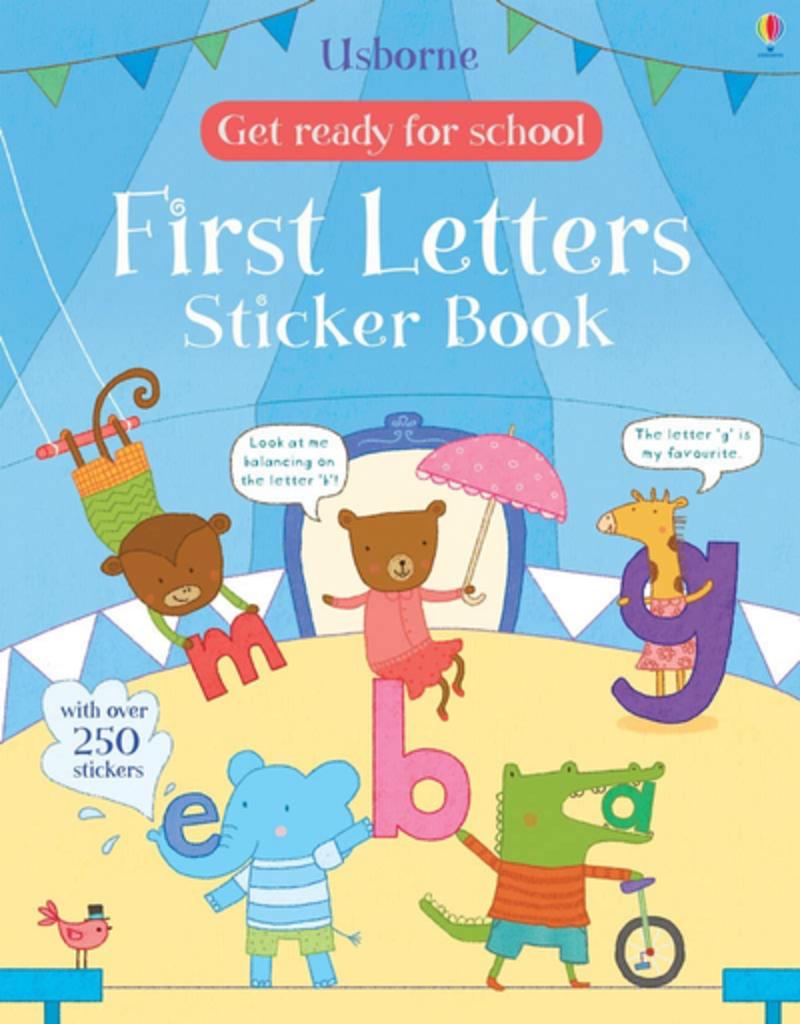 Usborne First Letters Sticker Book