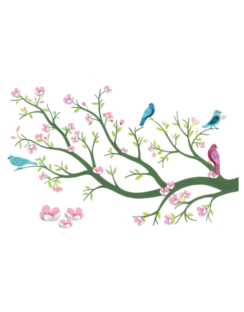 Djeco 3D Wall Stickers Cherry Tree in Bloom