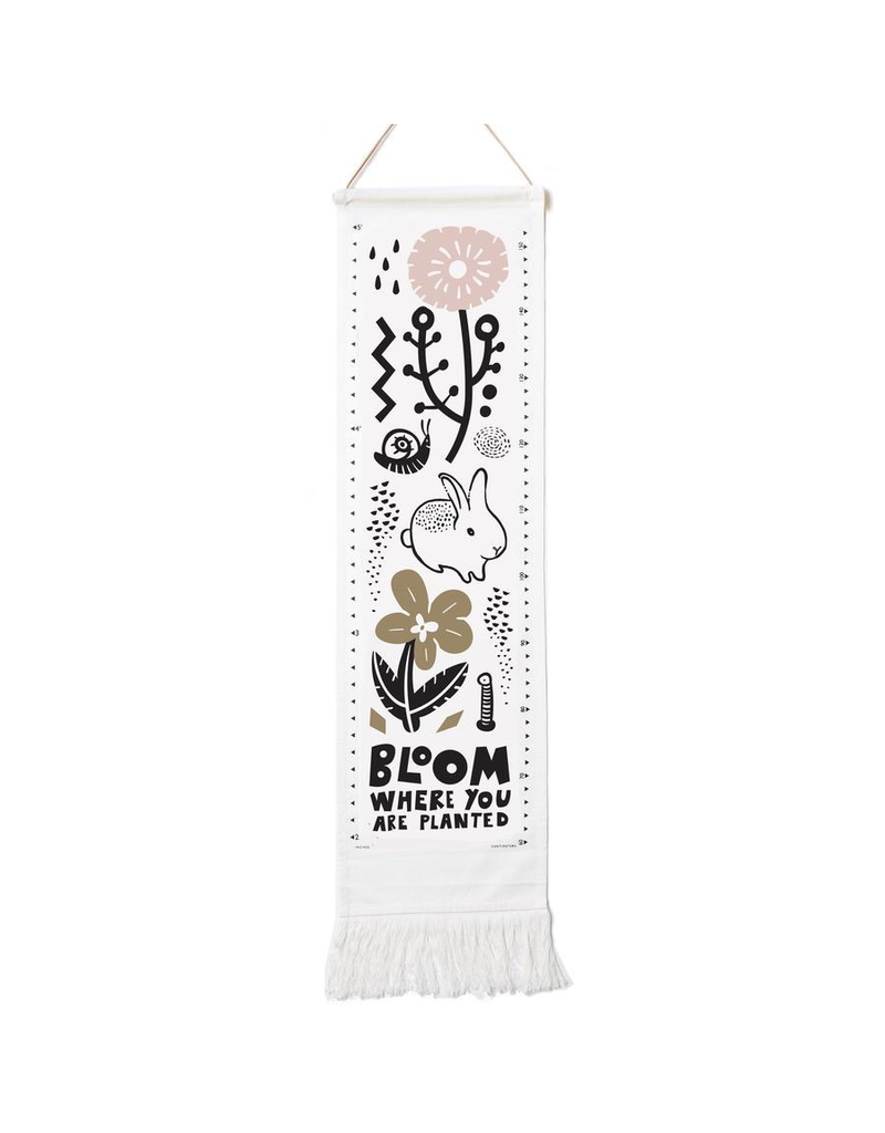 Wee Gallery Organic Canvas Growth Chart - Bloom