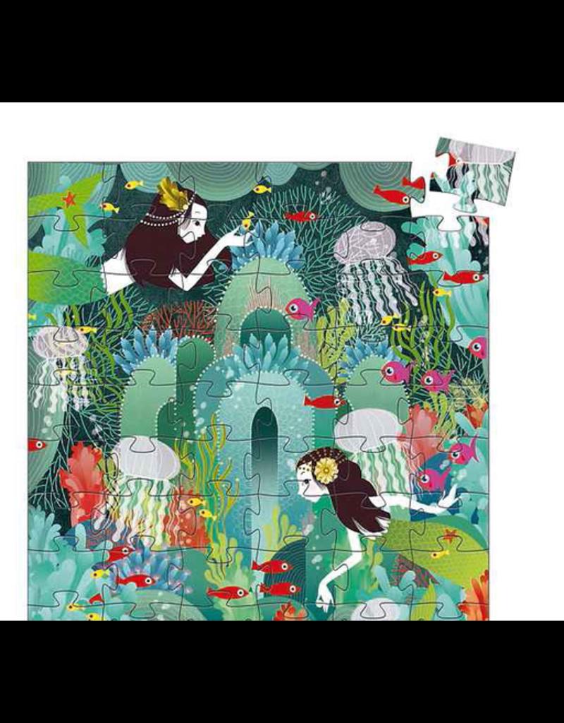 Djeco Silhouette Puzzle - The Aquarium - 16pc