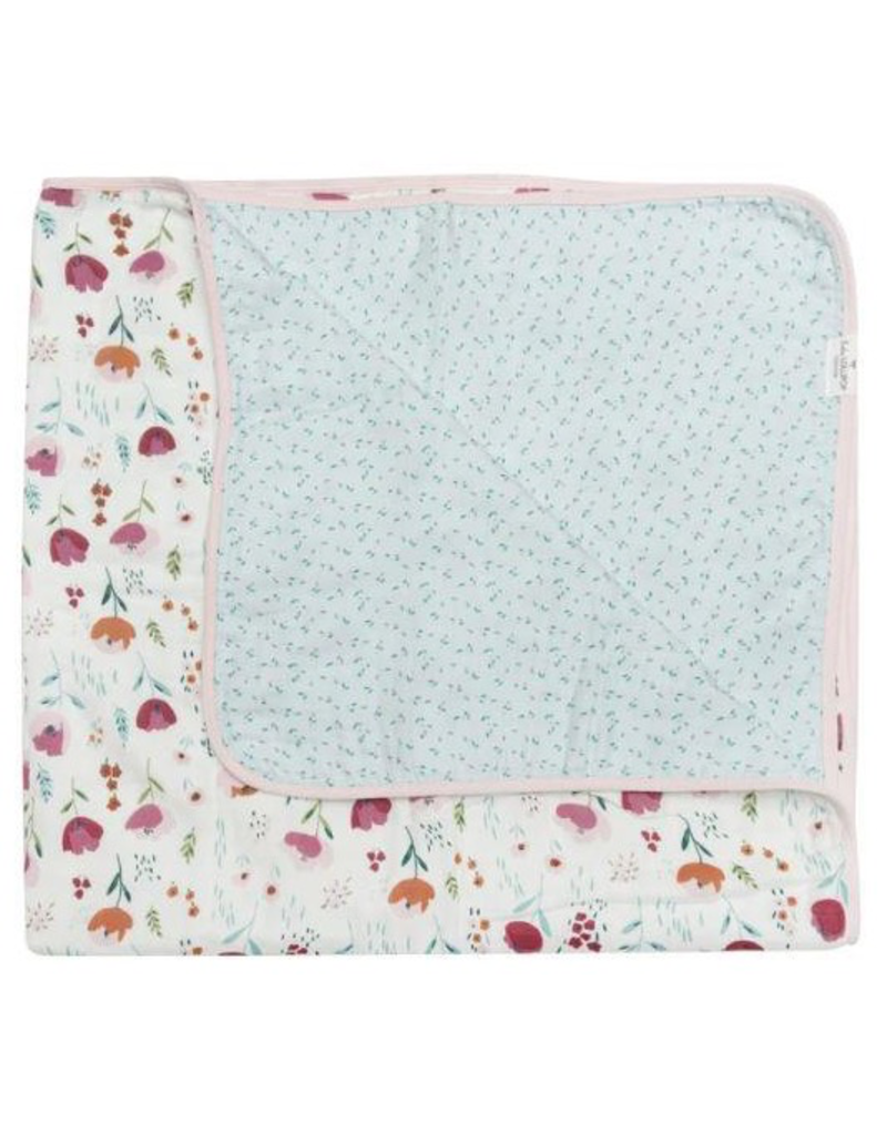 Loulou Lollipop Plush Bamboo Quilt - Rosey Bloom