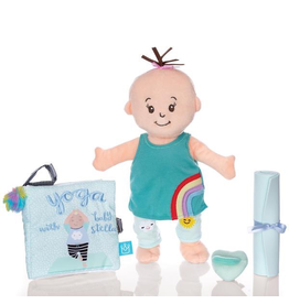 Manhattan Toys Wee Baby Stella Yoga Set Peach