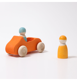Grimm's Car Large Orange, Covertible Vehicle