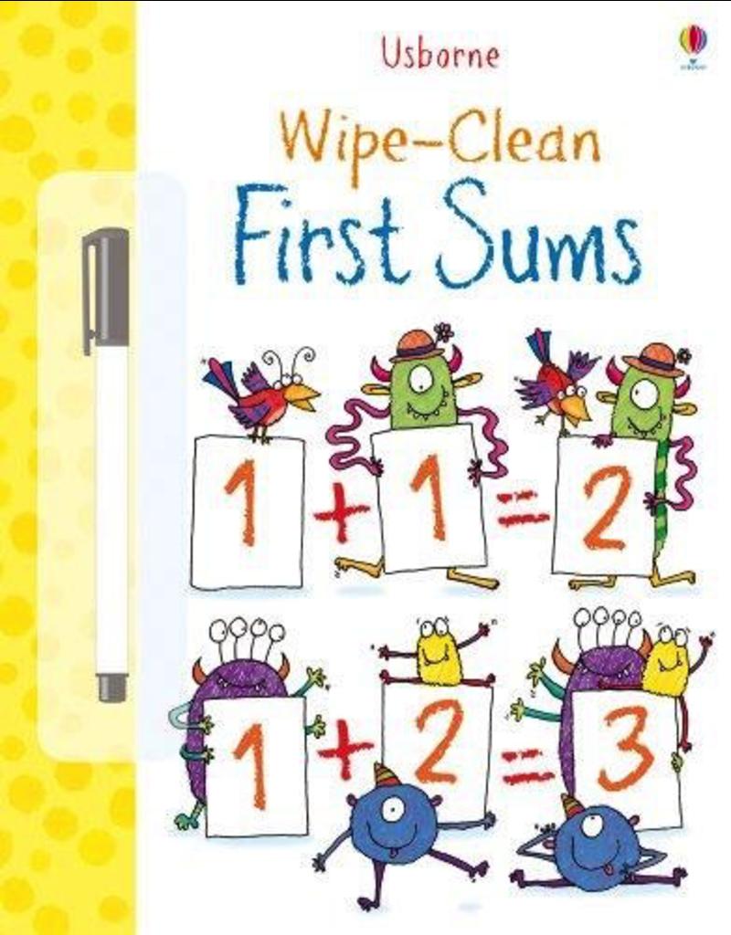 Usborne First Sums Wipe Book