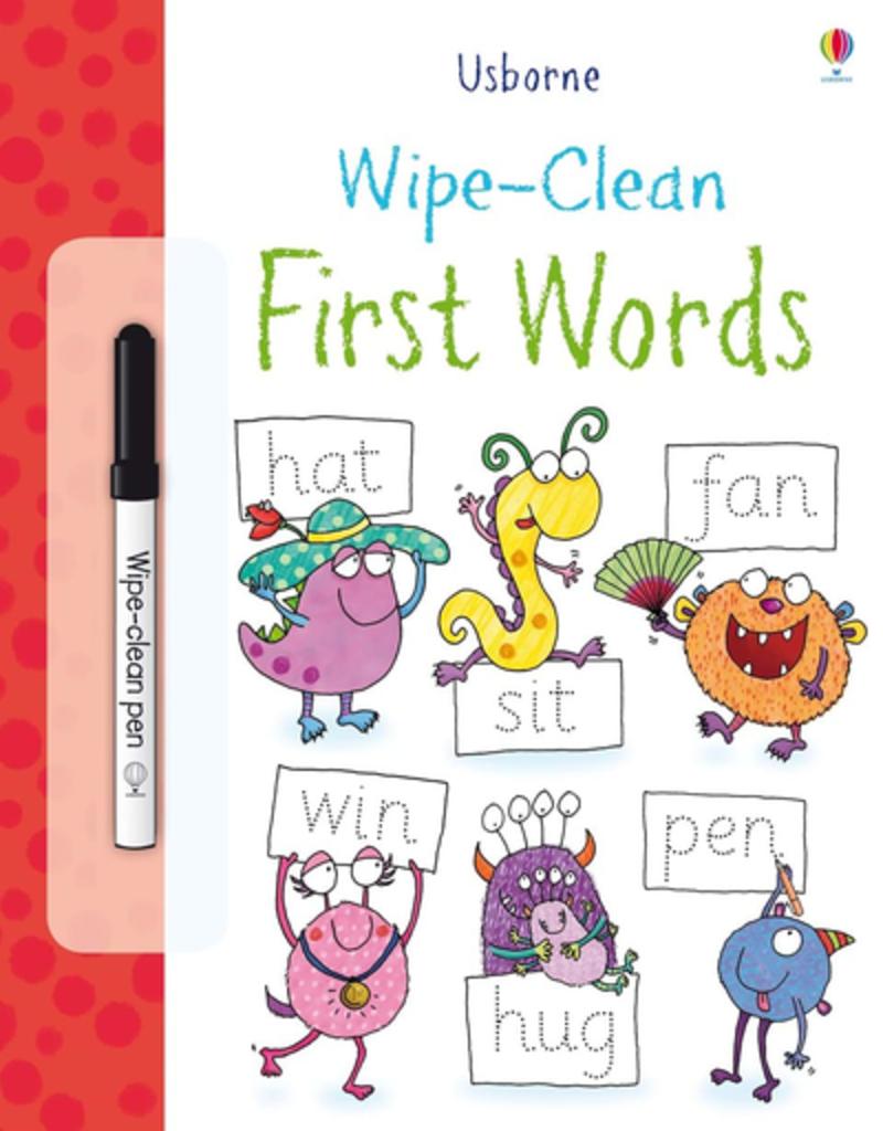 Usborne First Words Wipe Book