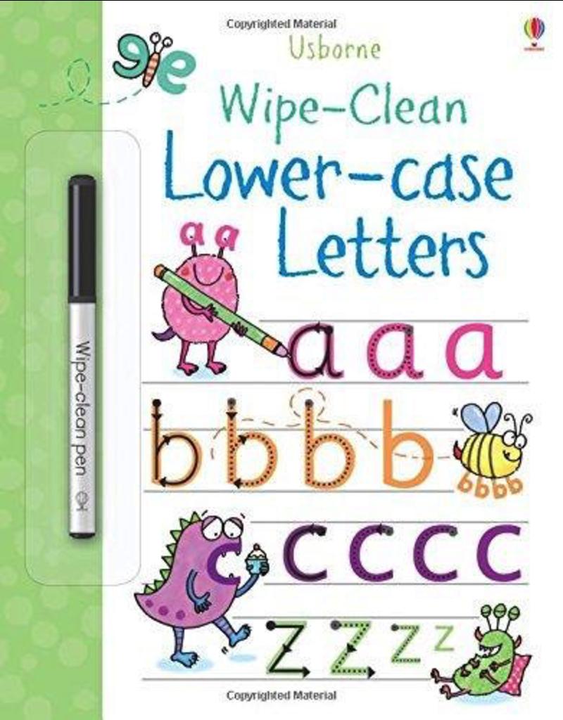Usborne Lower-case Letters Wipe Book