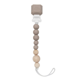 Loulou Lollipop Silicone & Wood Pacifier Clip (Silicone clip)