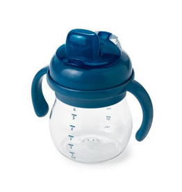 OXO Tot Transitions Soft Sippy Spout Cup with Handles, Navy