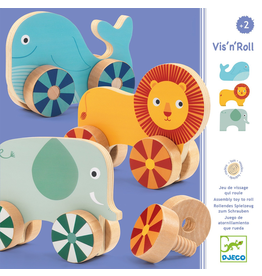Djeco Vis'N'Roll Wheels + Animals