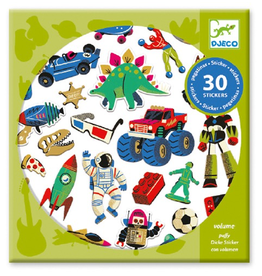 Djeco Stickers 30pk - Retro Toys