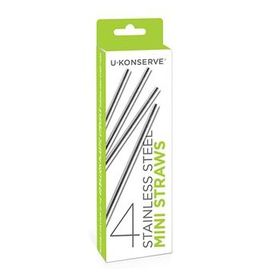 Kids Konserve Stainless Steel Mini Straws 4pk