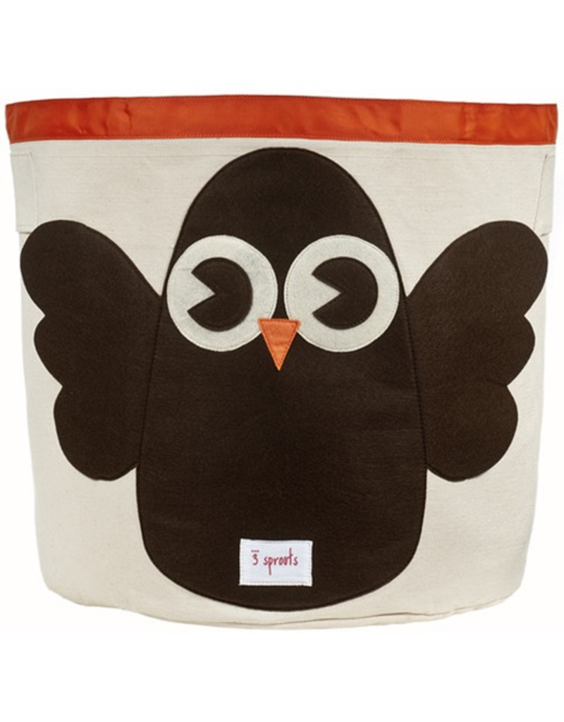 3 Sprouts Storage Bin Owl