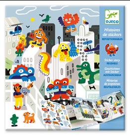 Djeco Sticker Story - Monster Invasion