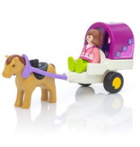 Playmobil 1.2.3 Horse-Drawn Carriage