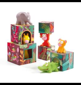 Djeco Maxi Topanijungle Stacking Cubes + Animals